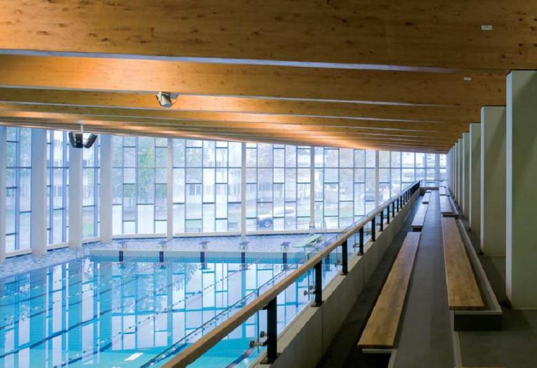 Zwembad Amsterdam Zuidoost.Bijlmer Sportcentrum Peutz